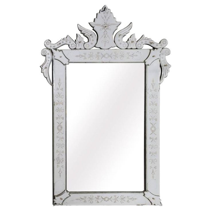 19th Century Louis XVI Style Venetian Wall Mirror, Italy, circa 1880s   From a unique collection of antique and modern wall mirrors at https://www.1stdibs.com/furniture/mirrors/wall-mirrors/
