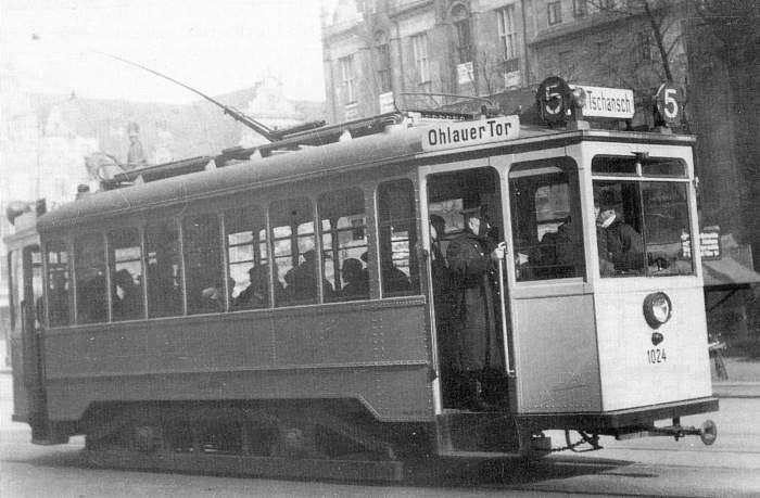 Breslau 1935 Strassenbahnlinie 5