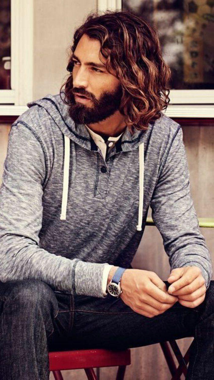 cheveux frises homme tendance pour cheveux homme longs