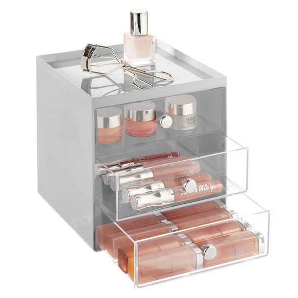 3 Drawer Stackable Plastic Makeup Cosmetic Storage Organizer In 2020 Small Laundry Room Organization Cosmetic Storage Plastic Makeup Storage