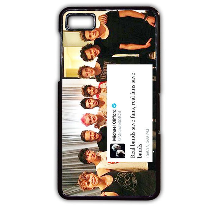 5SOS And One Direction Fan Twit Blackberry Phonecase For Blackberry Q10 Blackberry Z10
