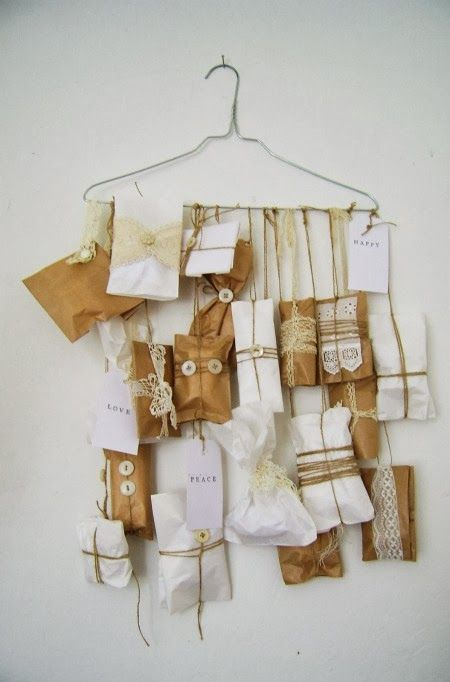 A lovely hand made Advent Calendar for Christmas from Dutch blog Silly Old Suitcase ..