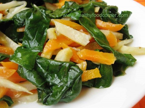 Swiss chard and celery root. You won't believe how good it is!