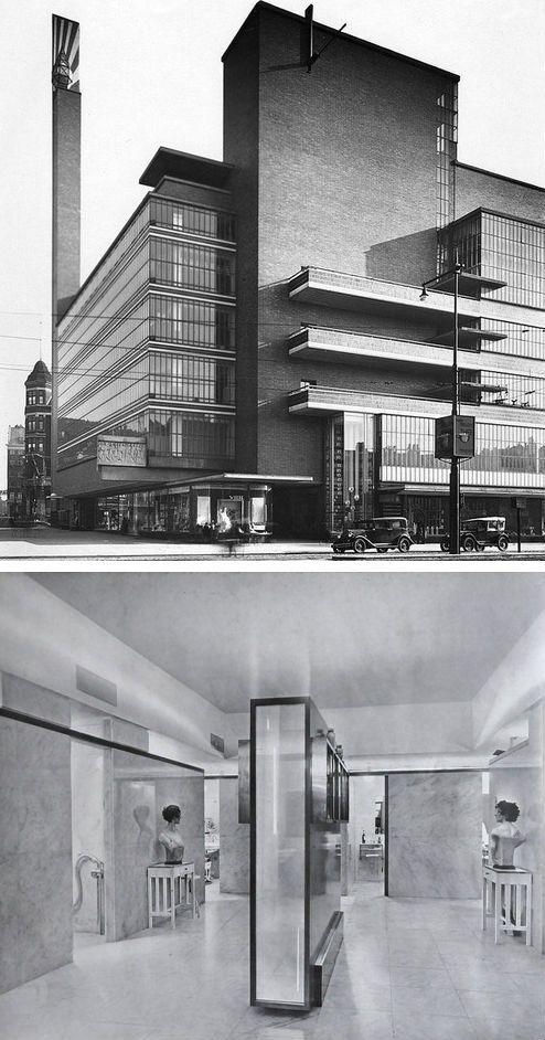 The De Bijenkorf department store, Rotterdam Willem Marinus Dudok, 1929-1930