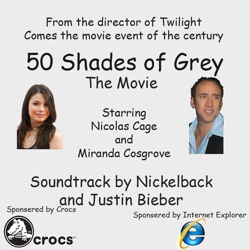 this made me laugh so hard.: Movie Posters,  Internet Site, Horrible Things, Funny Things, Worst Movie, Funny Pics, Worst Things, 50 Shades, Comic San