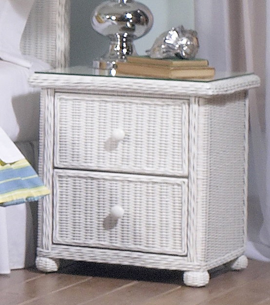 elana 2 drawer wicker nightstand white wicker furniture rattan bedroom furniture indoor tropical rattan bedroom furniture