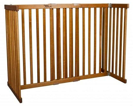 Dynamic Accents Free Standing Expandable Large Tall Pet Gate - Artisan Bronze