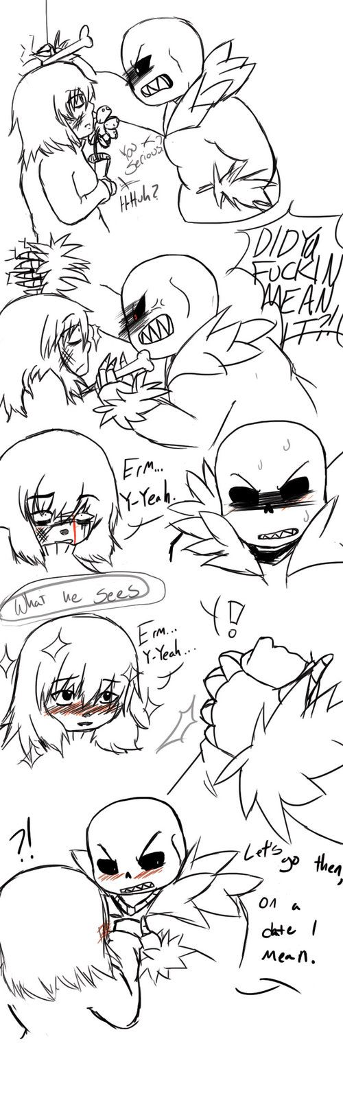 UnderfellSans x OlderFrisk Comic Page 3 by ParodyPunk on DeviantArt