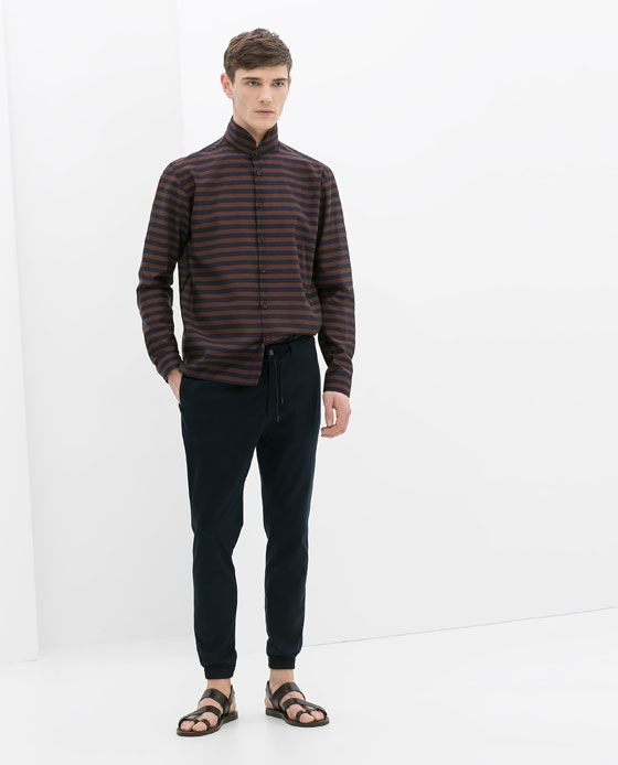 STRIPED VOILE SHIRT