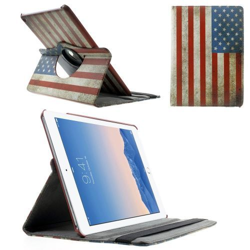 Mesh - iPad Air 2 Hoes - Rotatie Cover Amerikaanse Vlag | Shop4TabletHoes