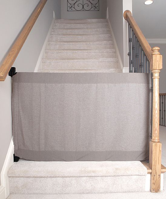 Khaki Stair Barrier Banister-to-Wall Gate                                                                                                                                                                                 Plus