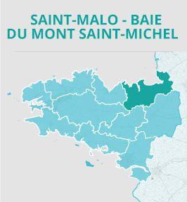Saint-Malo - Baie du Mont-Saint-Michel — Carte
