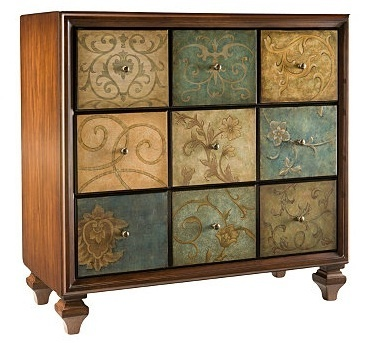 Marisol Accent Chest - Raymour and Flanigan...it's actually 3 larage drawers, not 9