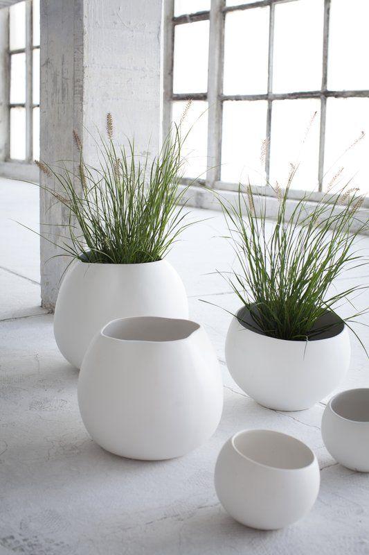 Gallman Round Ceramic Pot Planter Planters Planter Pots Modern Garden