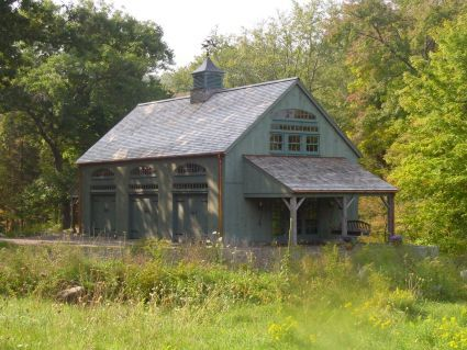 Exterior of One & A Half Story Post and Beam Country Barn