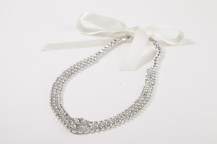 Hair Bride//Acconciatura per capelli in strass swarovsky crystal e nastro in raso avorio €105,00 #wedding #bride #jewels