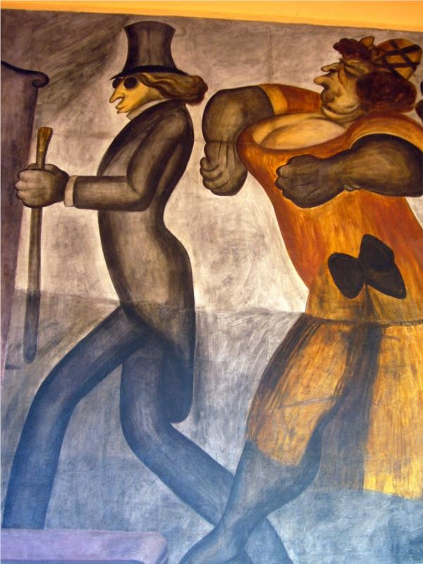 The Rich People (detail), 1924Jose Clemente Orozco - by style - Muralism