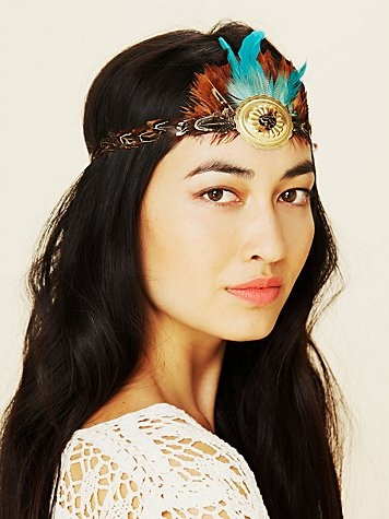 Gilded Feather Headdress. Free People - $28