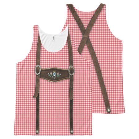 Bavarian Lederhosen All-Over-Print Tank Top - tap, personalize, buy right now!