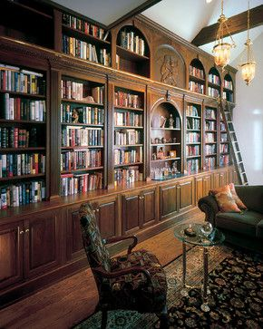 Cunningham library - traditional - home office - new york - Odhner & Odhner Fine Woodworking Inc.