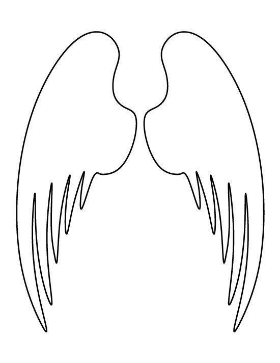 Angel wings pattern Use the printable outline for crafts, creating - angels templates free