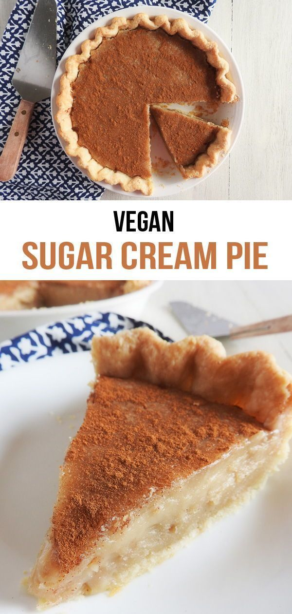 Vegan Sugar Cream Pie