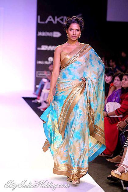 Mandira Bedi designer saree
