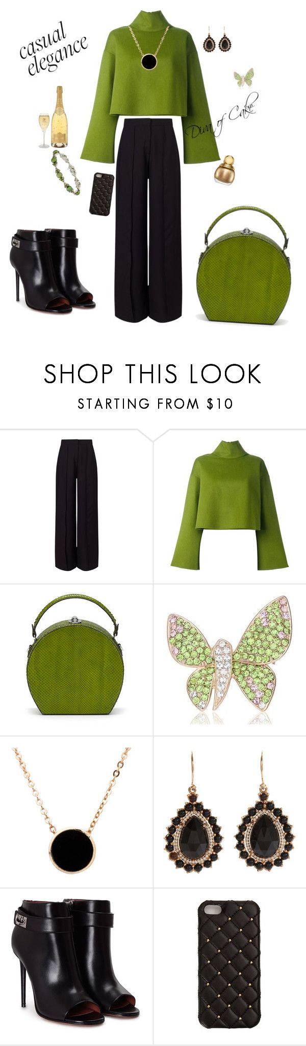"""Green and black outfit"" by Diva of Cake on Polyvore featuring Miss Selfridge, Bally, Bertoni, American Apparel, Irene Neuwirth, Givenchy, 2Me Style and Honora"