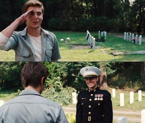 Zac Efron and Dave Franco- Charlie st Cloud. loved this bit coz they are both gorgeous xx.  this part is really sad though