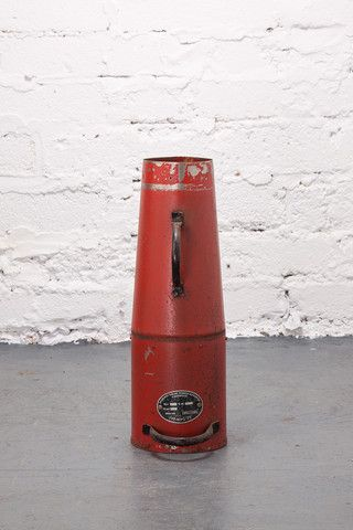 Small 1960's Red Fire Brigade Funnel. If you like this check out our shop http://industrialthings.com/