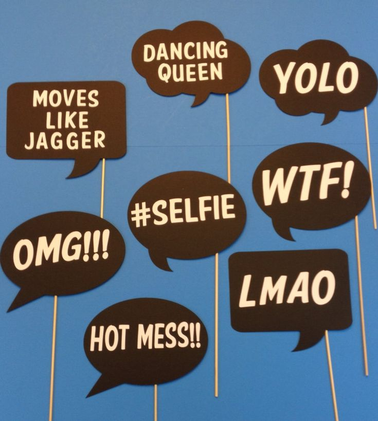 Photo Booth Props  Fun and Funky Word Bubbles  by CraftingbyDenise, $25.00