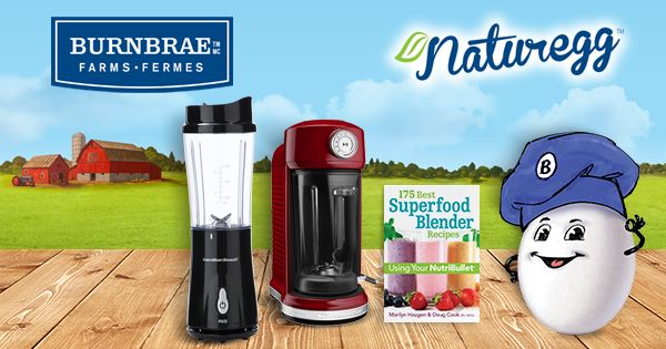 Burnbrae Farms - #SimplyEggWhites - Enter for a chance to win our smoothie kick-starter prize pack (ARV $440) or 1 of 4 Secondary Prizes! (ARV: $250) #BurnbraeFarms