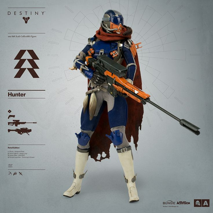 Destiny Hunter Pre-order BEGINS JULY 21st, 2016 Bungie and 3A proudly announce the highly anticipated DESTINY HUNTER – the third class of Guardian in 3A's 1/6th Scale Collectible Figure Series from...
