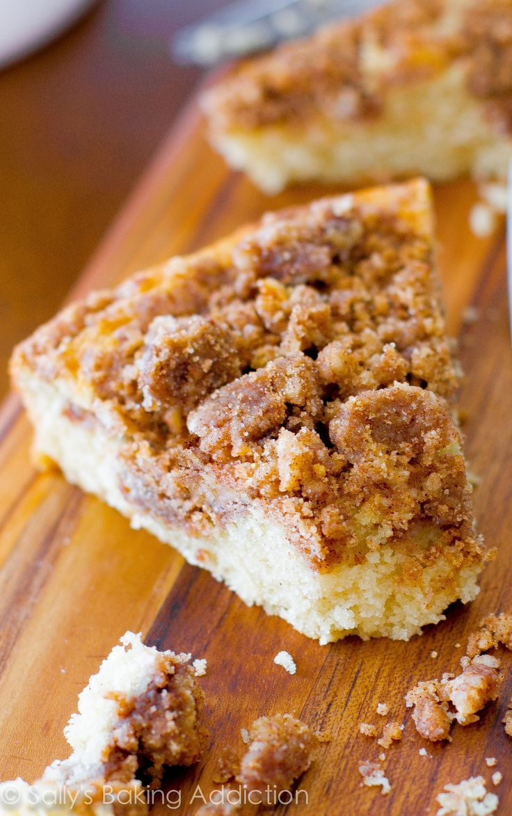 My favorite recipe for buttery, rich coffee cake. Heavy on the crumb topping!