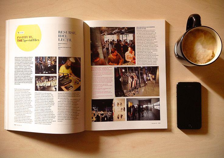 Recomandarea noastra pentru acest weekend. Revista, cafea, iphone, telefon, cappuccino, office caffe, the insitute, long shade. Copyright Office Caffe 2013