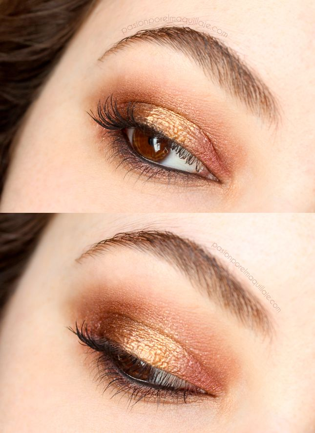 Look: ahumado cobrizo // Look: copper smokey eye | Pasión por el maquillaje
