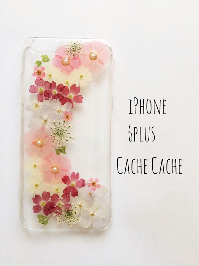 p⑥ファンタジーリース押し花iPhoneケース