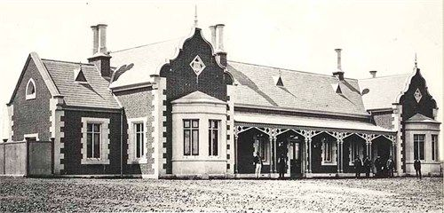 Bathurst Railway Station built 1876.  My grandfather was a train driver in Bathurst l920's