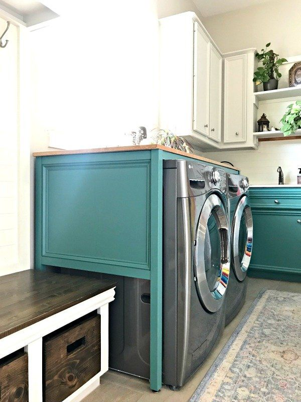 Easy Over Washer And Dryer Diy Laundry Table Abbotts At Home In 2020 Diy Laundry Laundry Table Woodworking Plans Diy