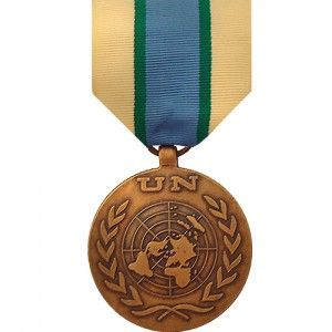 The United Nations Operation in Somalia (UNOSOM) Medal is presented by the United Nations for service in the mission to oversee the ceasefire of the Somali Civil War and to protect the UN relief efforts. Phase I of the UNOSOM was established on April 24, 1992 and phase II began in March 1993 and was in operation until March 1994.