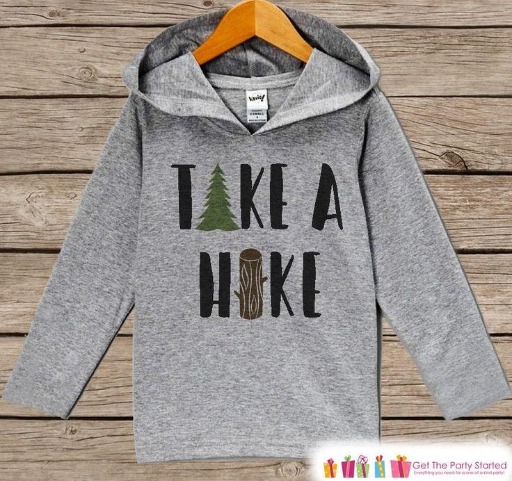 Hiking Shirt - Take a Hike Hoodie - Camping Shirt - Hiking, Nature, Outdoor Aventure Clothing - Grey Pullover - Toddler, Infant, Kids Hoodie