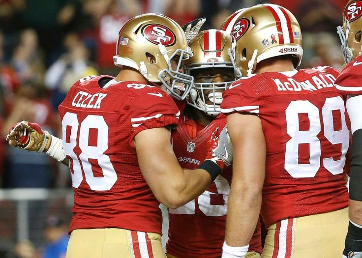 ... 89 Red Jersey vs Carolina Panthers on 49ers roll through Rams in  opener. Nfl Football GamesSport FootballNfl WeekTight EndSan Francisco .. Mens  Nike San ... 72929ac32