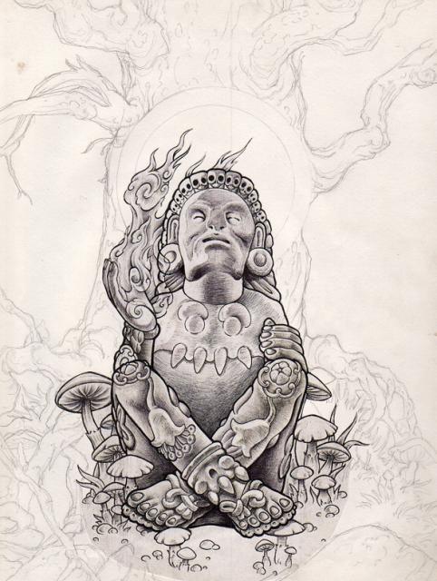 """El dios mexica protector de los artistas -  Xochipili (del náhuatl Xochi """"flor"""" y Pili """"príncipe"""" o """"niño"""", también conocido como Macuilxochitl) era el señor mexica de las flores, del amor, del placer, de la pintura, de los juegos, de las celebraciones y de la creatividad en géneral.    Cantantes, poetas, pintores, escultores, dibujantes, músicos etc, son protegidos por este señor.    Tuvo como consorte a Mayahuel, y su hermana gemela era Xochiquetzal. Ixtlilton, el señor mexica de la salud…"""