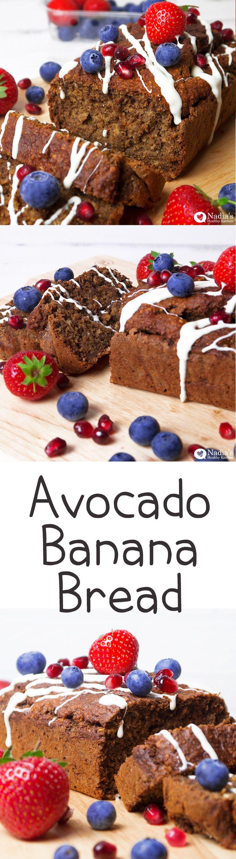 Avocado Banana Bread #vegan #dairy #free #dairyfree #nut #nutfree #healthy #avocado #banana #bread #clean #eating #recipe #spelt #flour #wholemeal #sugarfree #sugar #stevia #coconut #coconutsugar #uk