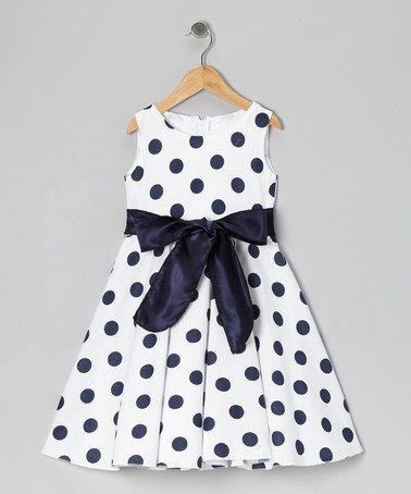 Black & White Polka Dot Bow Dress - Infant, Toddler & Girls #zulily #zulilyfinds