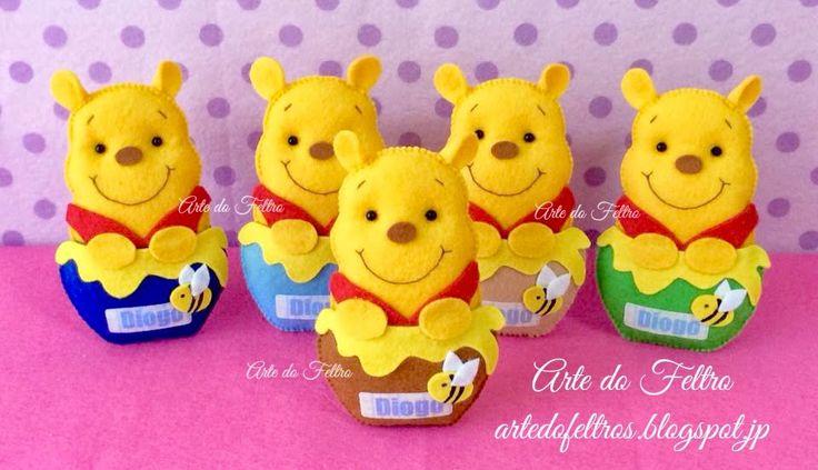 ✿Arte do Feltro✿: Pooh do Diogo.