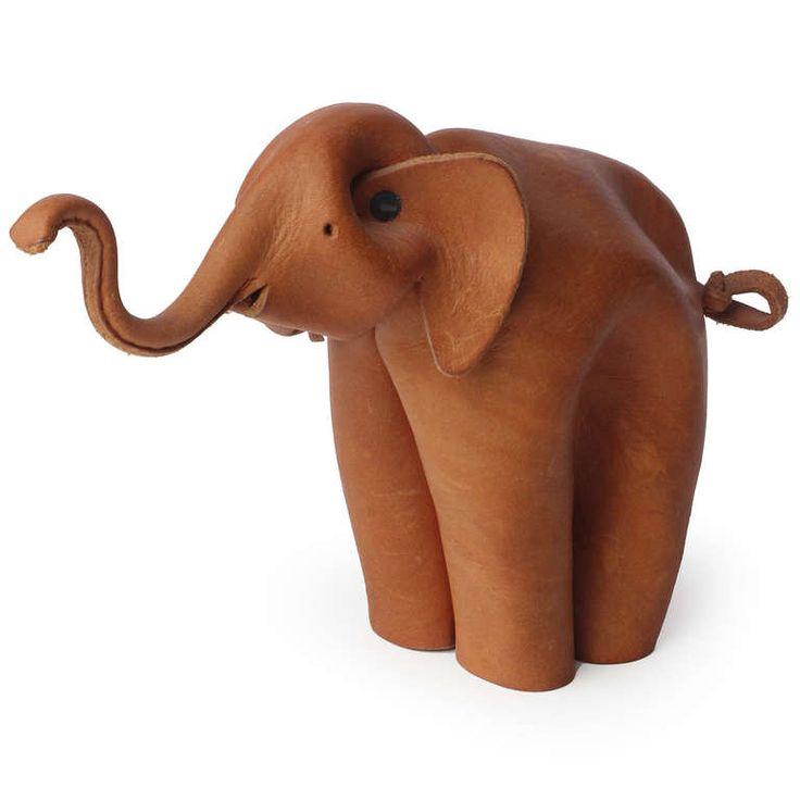 Folded Leather Elephant by Deru 2