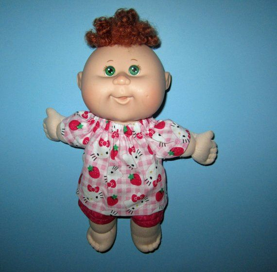 Cabbage Patch Doll Clothes Pink Kitty Print Top And Pink Etsy Doll Clothes Cabbage Patch Dolls Cabbage Patch