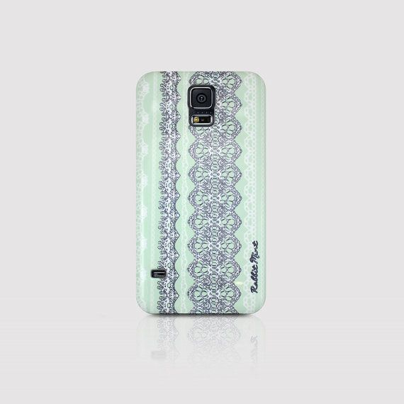 Samsung Galaxy S5 Case  Lace & Mint 00016S5 by rabbitmint on Etsy, $20.00