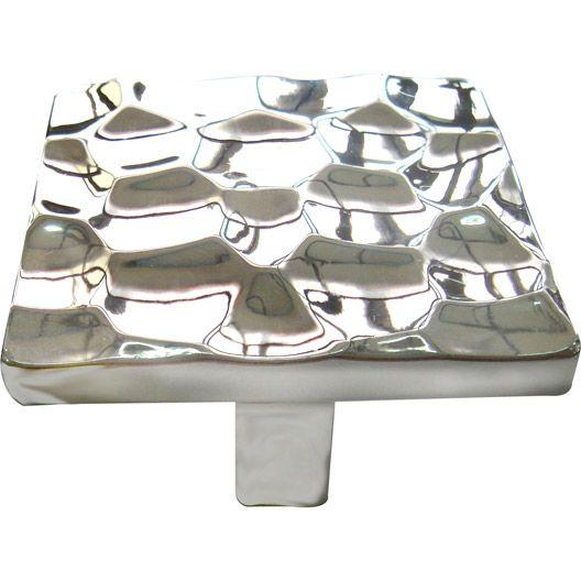 Bouton de meuble en zamak brillant, série Céres